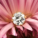 3.40ct Antique European Round Cut Diamond Engagement Ring | Mark Broumand