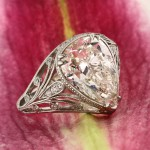 5.38ct Pear Shaped Diamond Engagement Ring | Mark Broumand
