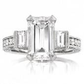 5.49ct Emerald Cut Engagement Ring | Mark Broumand