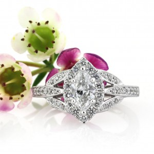 1.20ct Marquise Cut Diamond Engagement Ring
