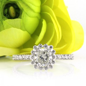1.35ct Cushion Cut Diamond Engagement Ring