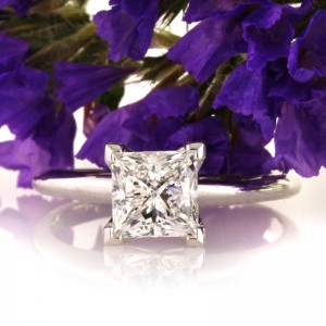 1.50ct Princess Cut Diamond Engagement Ring | Mark Broumand