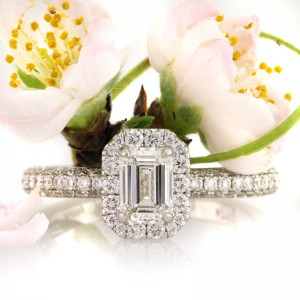 1.56ct Emerald Cut Diamond Engagement Ring | Mark Broumand