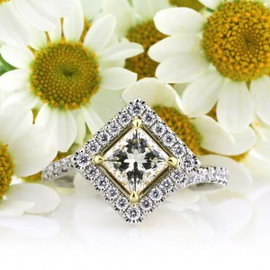 1.61ct Fancy Yellow Princess Cut Engagement Ring | Mark Broumand
