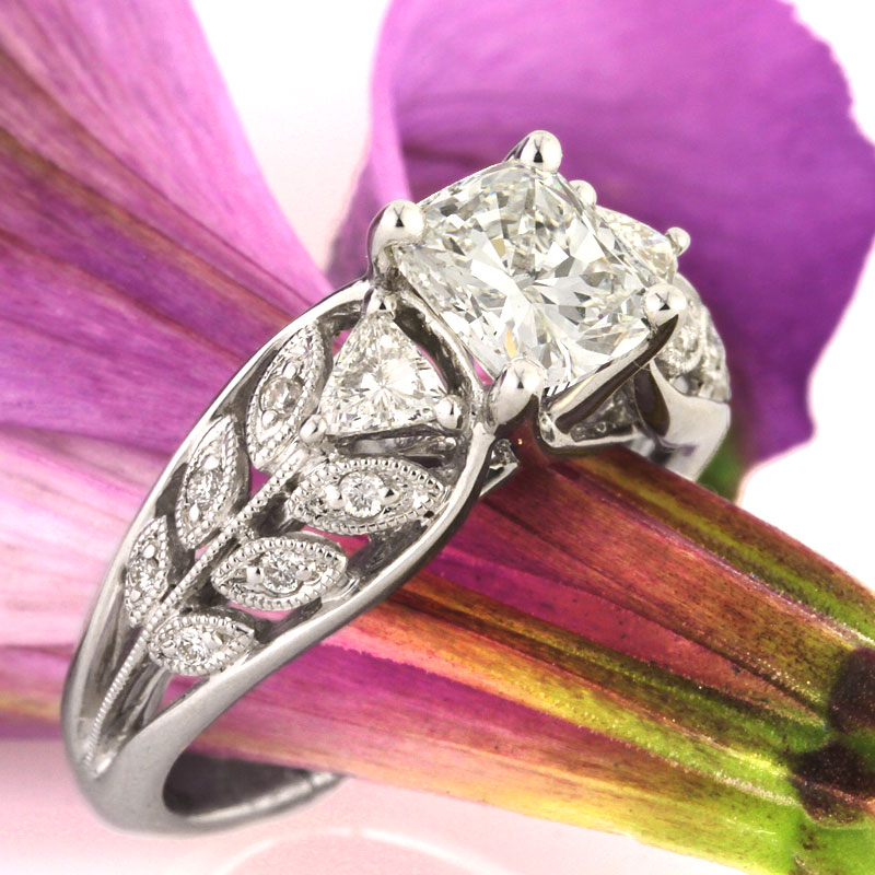 A Three-Stone Cushion Cut Engagement Ring for Your Past, Present and Future | Mark Broumand
