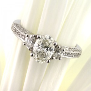 1.81ct Oval Cut Diamond Engagement Ring | Mark Broumand