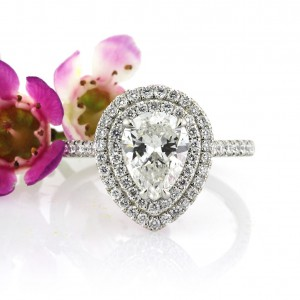 1.99ct Pear Shaped Diamond Engagement Ring