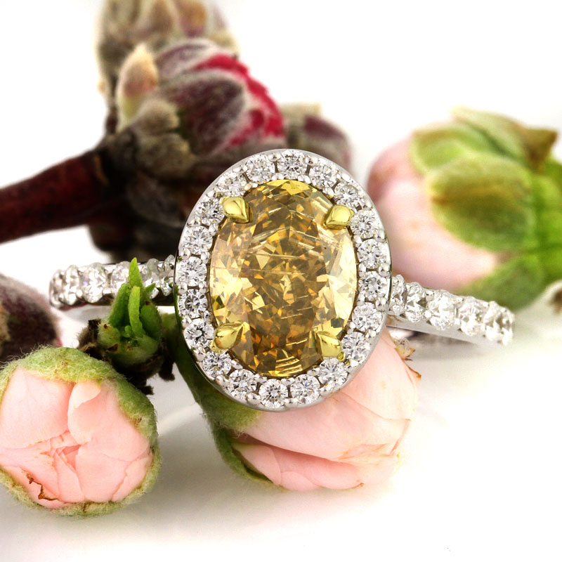 Fancy Color Halo Diamond Engagement Rings Under $5000 | Mark Broumand