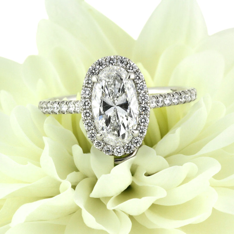 2.20ct Oval Cut Diamond Engagement Ring | Mark Broumand