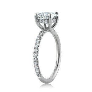 2.37ct Round Brilliant Cut Diamond Engagement Ring Side Tall | Mark Broumand
