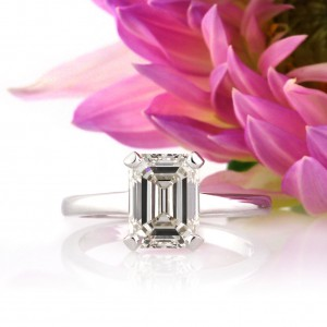 2.60ct Emerald Cut Diamond Engagement Solitaire Engagement Ring | Mark Broumand