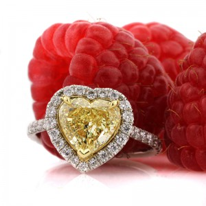 2.75ct Fancy Yellow Heart Shaped Diamond Engagement Ring | Mark Broumand