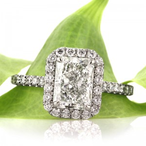 2.77ct Radiant Cut Diamond Engagement Ring