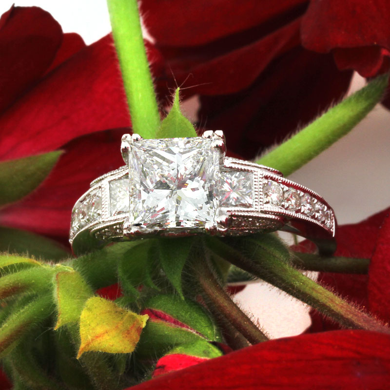 Princess Cut Diamond Engagement Rings Sparkle and Shine | Mark Broumand