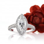3.01ct Marquise Cut Diamond Engagement Ring | Mark Broumand