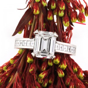 3.26ct Emerald Cut Diamond Engagement Ring | Mark Broumand