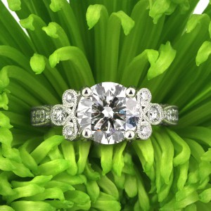 3.54ct Round Brilliant Cut Diamond Engagement Ring | Mark Broumand