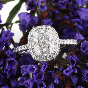 3.55ct Cushion Cut Diamond Engagement Ring Wedding Set