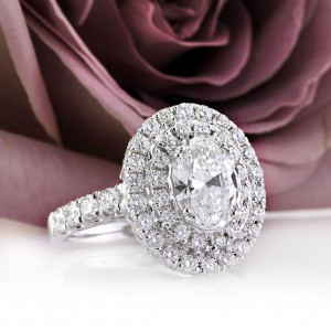 3.56ct Oval Cut Diamond Engagement Ring | Mark Broumand
