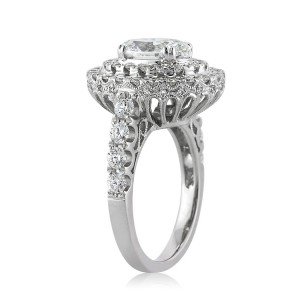 3.56ct Oval Cut Diamond Engagement Ring Profile | Mark Broumand