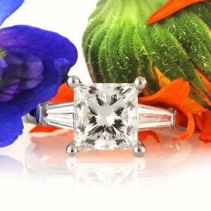 3.58ct Princess Cut Diamond Engagement Ring | Mark Broumand