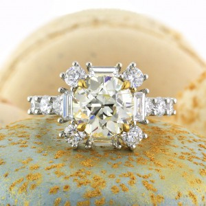 4.82ct Old European Round Cut Diamond Engagement Ring | Mark Broumand