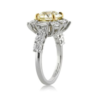 4.82ct Old European Round Cut Diamond Engagement Ring Angle Tall | Mark Broumand
