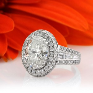 5.72ct Oval Cut Diamond Engagement Ring