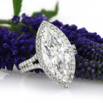 5.87ct Marquise Cut Diamond Engagement Ring | Mark Broumand