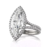 5.87ct Marquise Cut Diamond Engagement Ring Side Angle | Mark Broumand
