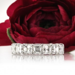 8.00ct Asscher Cut Diamond Eternity Band | Mark Broumand