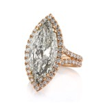 9.68ct Marquise Cut Diamond Engagement Ring Side Angle | Mark Broumand