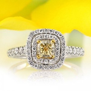 1.16ct Fancy color Radiant Cut Diamond Engagement Ring | Mark Broumand