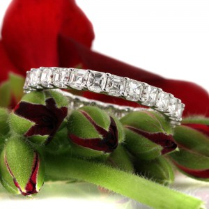 2.50ct Asscher Cut Diamond Eternity Band | Mark Broumand