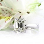 3.01ct Emerald Cut Diamond Solitaire Engagement Ring | Mark Broumand