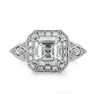 3.34ct Asscher Cut Diamond Engagement Ring | Mark Broumand