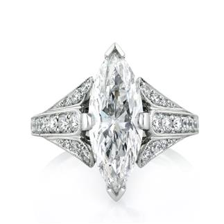 3.86ct Marquise Cut Diamond Engagement Ring | Mark Broumand