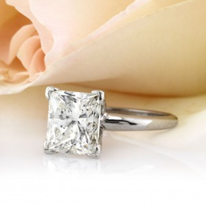 5.29ct Princess Cut Diamond Solitaire Engagement Ring | Mark Broumand