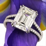 5.37ct Emerald Cut Diamond Engagement Ring | Mark Broumand
