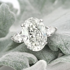 5.83ct Oval Cut Diamond Three-Stone Engagement Ring | Mark Broumand