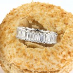 7.80ct Emerald Cut Diamond Eternity Band in Platinum | Mark Broumand
