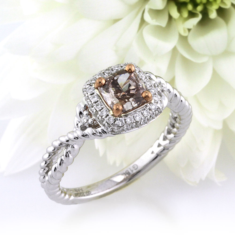 attachment incredible rose interesting diamonds chocolate gallery bands view rings inside engagement diamond full hd gold of wedding
