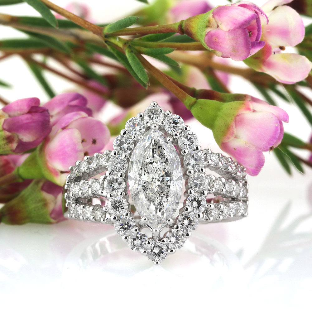 Bold and Beautiful Modified Brilliant Diamond Engagement Rings | Mark Broumand