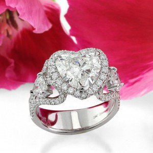 Lots of Love - The Heart Shaped Diamond Engagement Ring | Mark Broumand