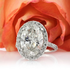 6.40ct Oval Cut Diamond Engagement Ring | Mark Broumand