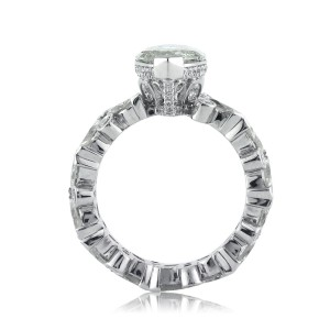 6.76ct Marquise Cut Diamond Engagement Ring Side Tall | Mark Broumand