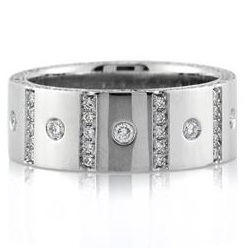 Men's 1.90ct Round Brilliant Cut Diamond Wedding Band | Mark Broumand