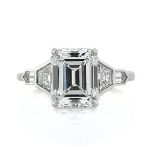 Rectangular Emerald Cut Ring, 4.48 carat