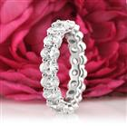 3.75ct Oval Cut Diamond Eternity Band in 18k White Gold