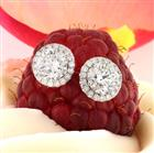1.60ct Round Brilliant Cut Diamond Stud Earrings